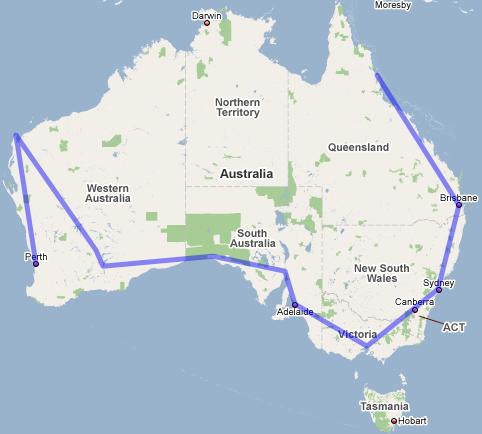 Australia Map Road Trip.Escape The Cityaustralia Planning The Ultimate Outback Road Trip