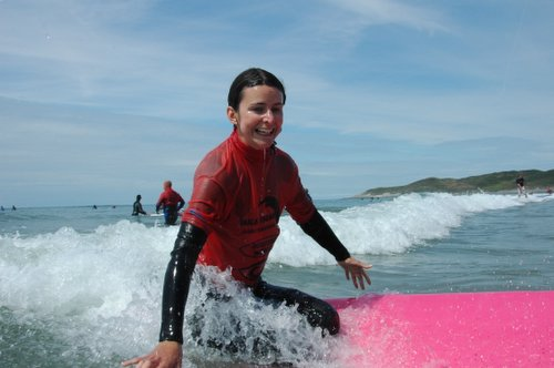 Squiffy's surfing expression. Doing slightly better and it was followed by a full-on stand - promise!